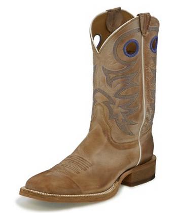Justin Caddo Beige Western Boot