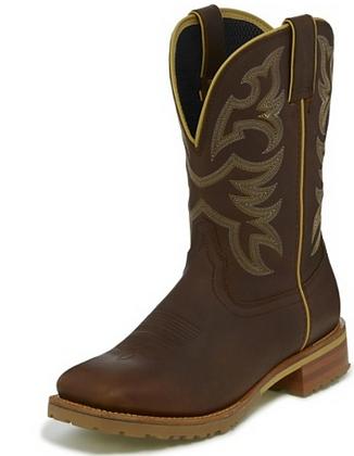 Justin Marshal Whiskey Neat Brown Waterproof Work Boot