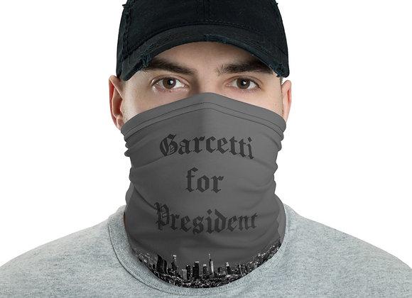 GARCETTI FOR PRESIDENT MASK BW