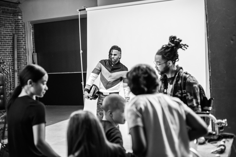 Los Angeles Times // Jason Derulo Behind the scenes with LA BOUFFIER