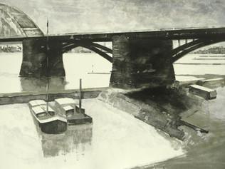 Waalbrug (Under the bridge)