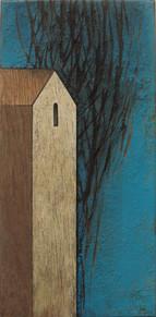Huis in blauw