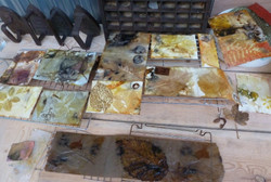 Steam prints drying