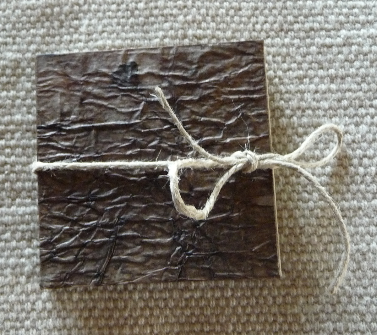 Folded card book