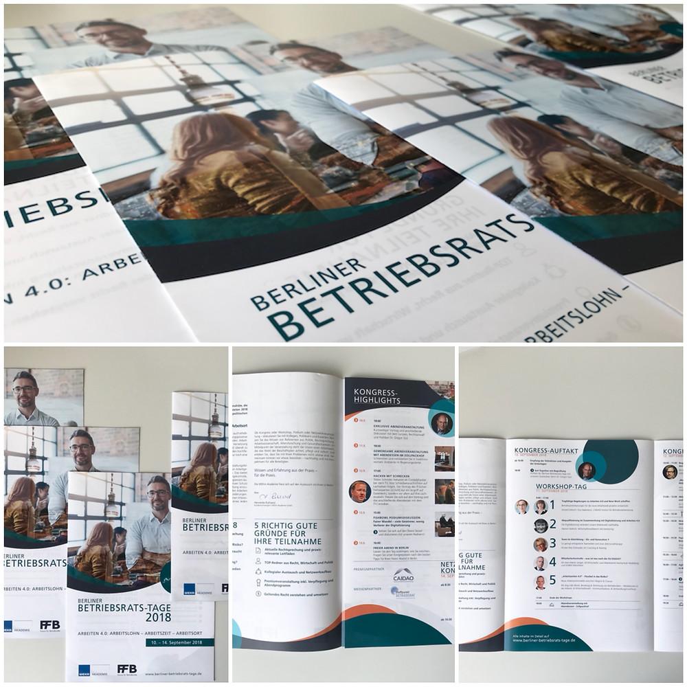 Flyer für Berliner Betriebsrats-Tage
