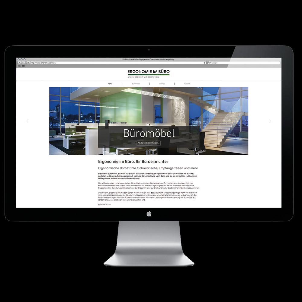 Erstellung der SEO-optimierten Webseite für Ergonomie im Büro