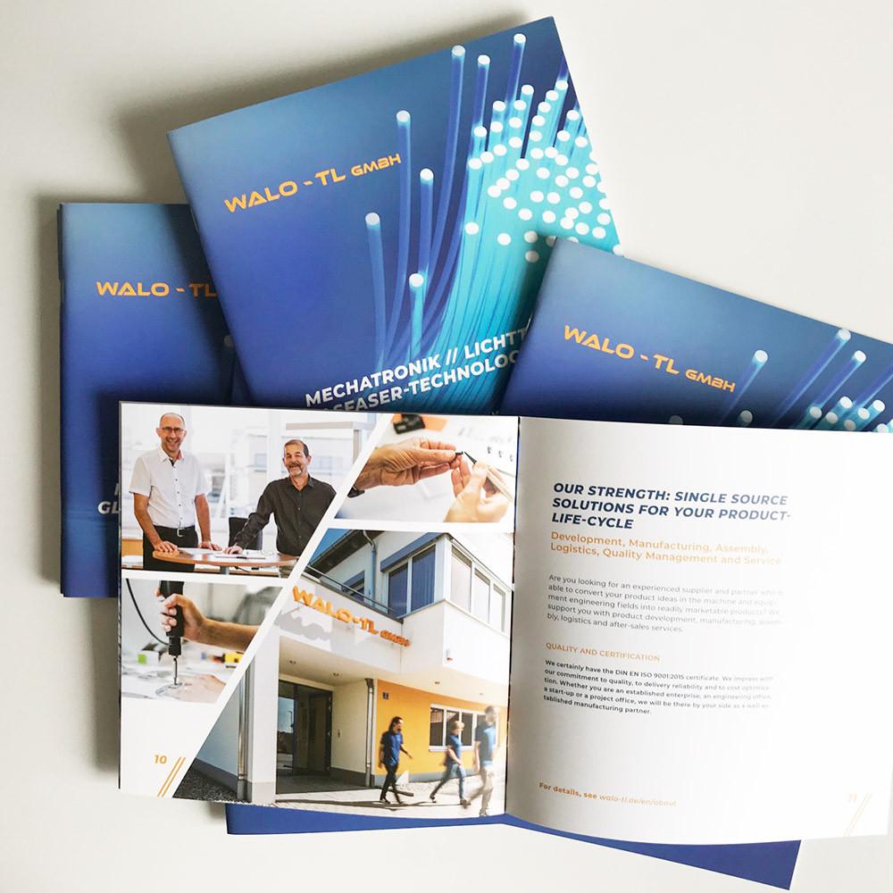 Imagebroschüre englisch/ deutsch WALO – TL GmbH