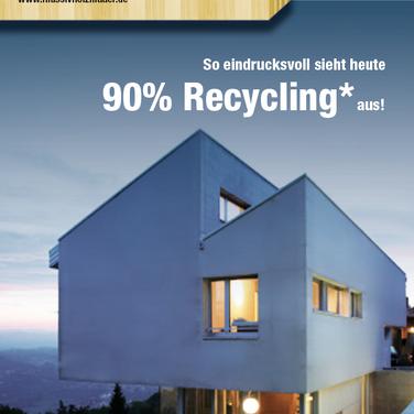 Nachhaltig bauen: Werbekampagne für Massivholzmauer-Haus