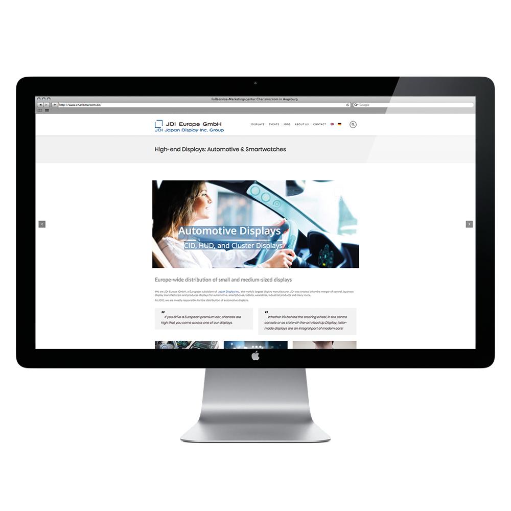 Erstellung des SEO-optimierten Webauftritts für JDI Europe