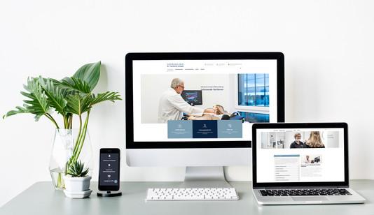 Webseite Gefässklinik Dr. Tsantilas Augsburg