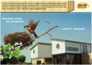 Konzeption und Umsetzung der Werbeanzeige für Massiv-Holz-Mauer