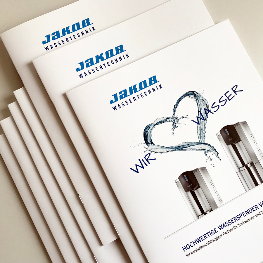 Idee und Umsetzung hochwertiger Broschüren für JAKOB Wassertechnik
