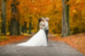 mariage couple automne