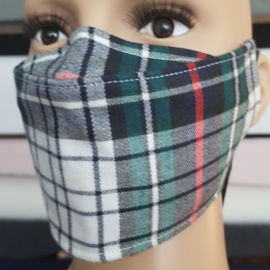 Face Buddy - Cotton - Plaid Green.jpg