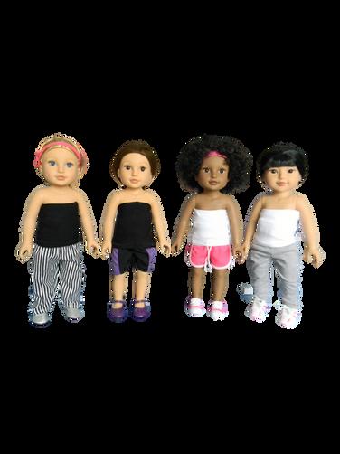 Brace Buddies girls in their mini Higgy Bears brace & Mini Brace Buddies Body Sock
