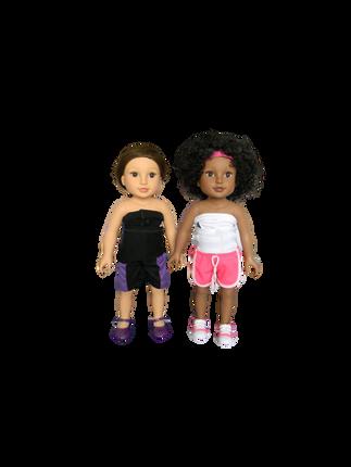 BB TESIA & ALYSHA - in their mini Higgy Bears braces & Mini Brace Buddies Body Socks
