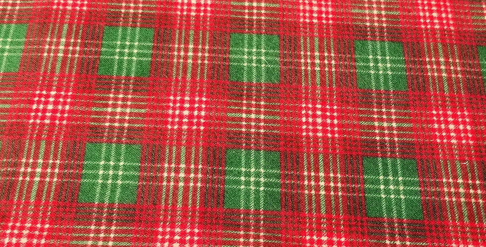 Plaid Red & Green Woven Cotton