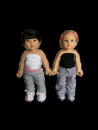 BB KYLANNA & HEIGHLEIGH - in their mini Higgy Bears braces & Mini Brace Buddies Body Socks
