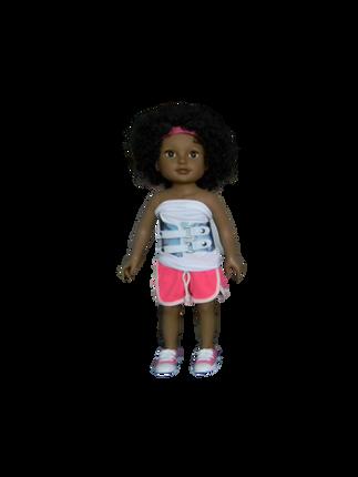 BB ALYSHA - in her mini Higgy Bears brace & Mini Brace Buddies Body Sock