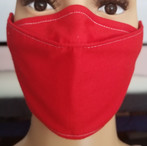 Face Buddy - PolyCotton Red front side.j