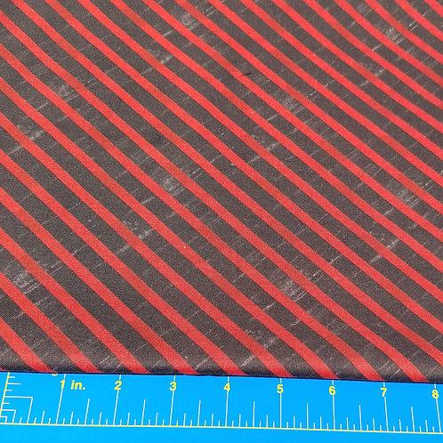 Black & Red Stripe Woven Cotton