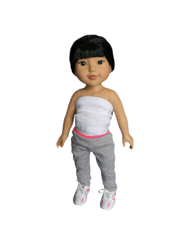 BB KYLANNA - in her mini Higgy Bears brace & Mini Brace Buddies Body Sock