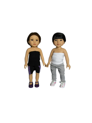 BB TESIA & KYLANNA - in their mini Higgy Bears braces & Mini Brace Buddies Body Socks