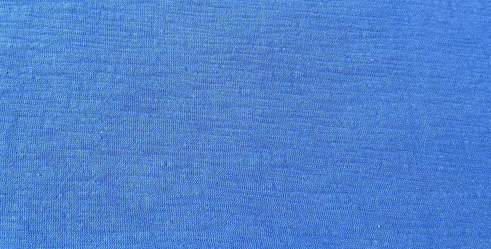 Blue Ribbed Woven Cotton