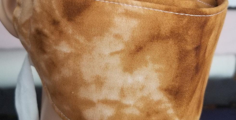 Tie-dye Brown Woven Poly-Cotton
