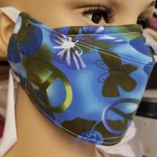 Face Buddy - Cotton Peace Blue  Flower r