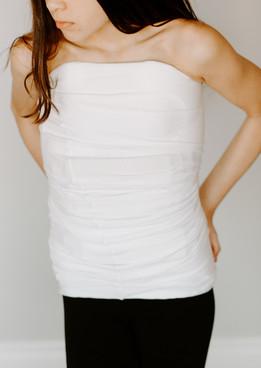 White Orthotic Body Sock Shirt