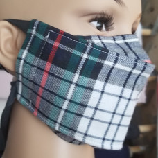 Face Buddy - Cotton - Plaid Green right.