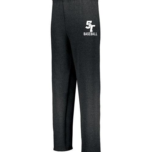 Unisex Adult/Youth Black Sweatpants (open bott)