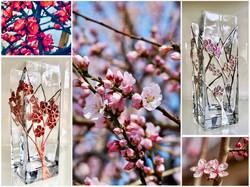 Sakura vases
