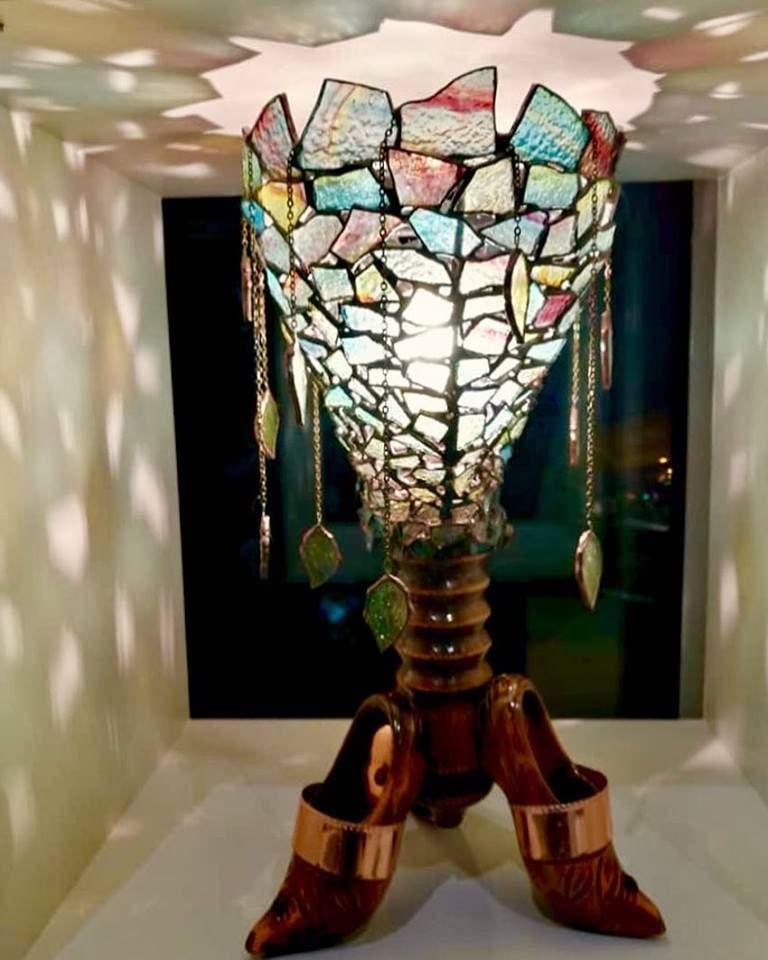 Лампа Мадам Осень на выставке.jpg