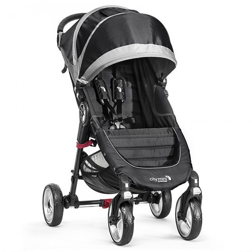 Baby Jogger City Mini 4 Wheel Pushchair - Black