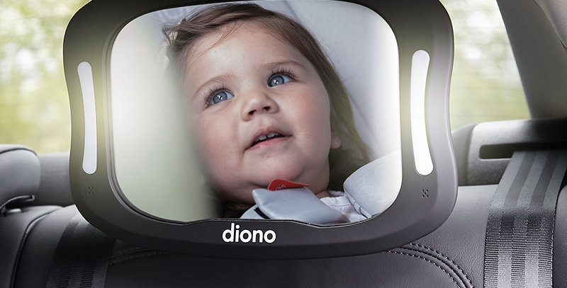 Diono Easy View XXL Baby Car Mirror With Light 1