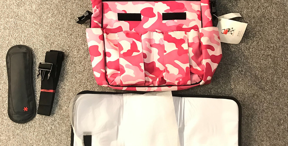 Skip Hop Dash Changing Bag - Pink Camo