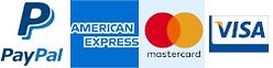 We take paypal, amex, mastercard and visa