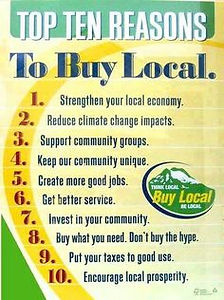 Top ten reasons to buy from a local shop