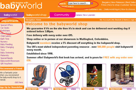 Then there was the babyworld shop
