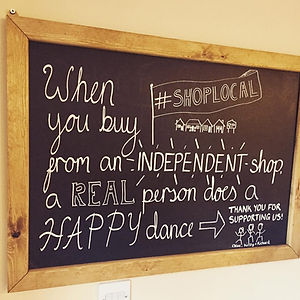 When you buy from an independent shop a real person does a happy dance