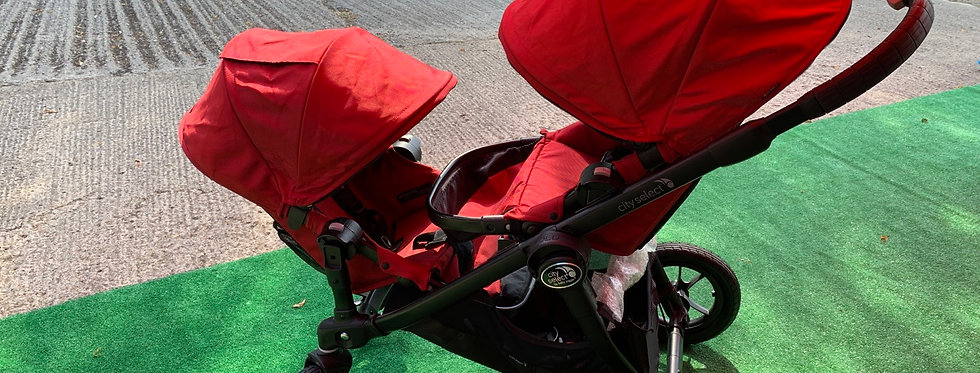 Baby Jogger City Select Pushchair plus Second Seat Red - EX DISPLAY