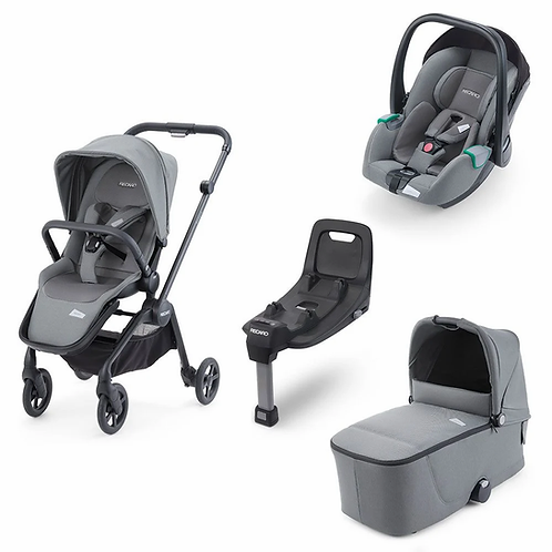Recaro Celona 5 Piece Travel System - Silent Grey