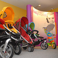 Showroom pushchairs