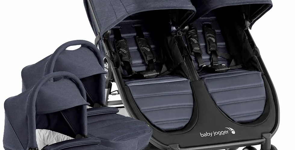 Baby Jogger City Mini 2 Double Pushchair plus 2 Carrycots