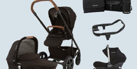 Nuna Mixx Bundle 2 (pushchair, carrycot, car seat, base, changing bag)