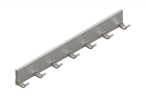 """W75 Coat Hooks with 3"""" Spacers"""