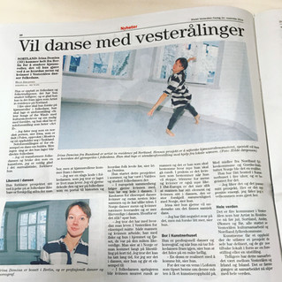 "interview with Irina Demina for ""Bladet Vesteralen"""
