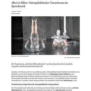 """""""Auf dem Silberplaneten"""" in Hamburger Abendblatt"""